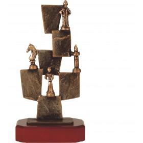 Luxe trofee schaken / schaakspel 27,5cm WBEL 244B