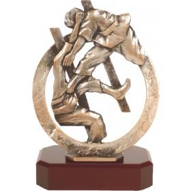Luxe trofee vechtsport / judo / karate 22cm WBEL 289B
