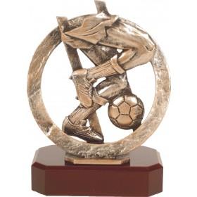 Luxe trofee voetballer / voetbal 20cm WBEL 295B