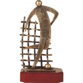 Luxe trofee voetballer / voetbal 26cm WBEL 305B
