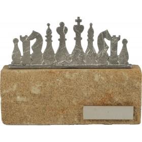 Luxe trofee schaken / schaakspel 16cm WBEL 607