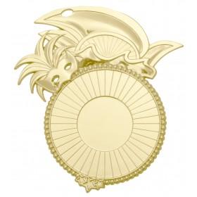 Medaille carnaval goud WD60 85mm