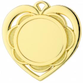 Medaille met hart en bloem WD87 50mm