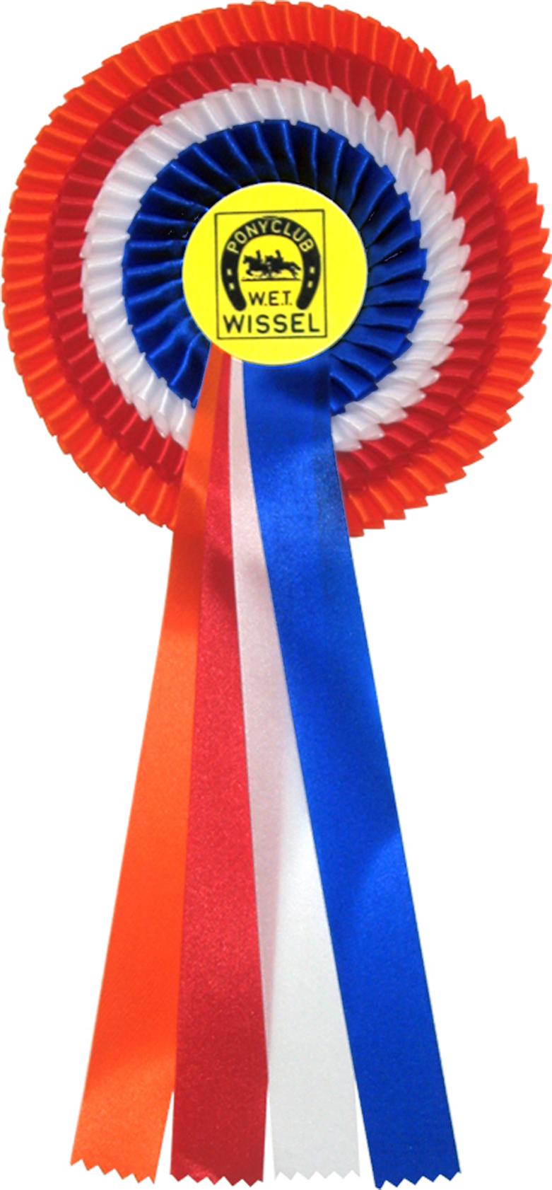 Rode / witte / blauwe / nederlandse vlag rozet (WHS30)